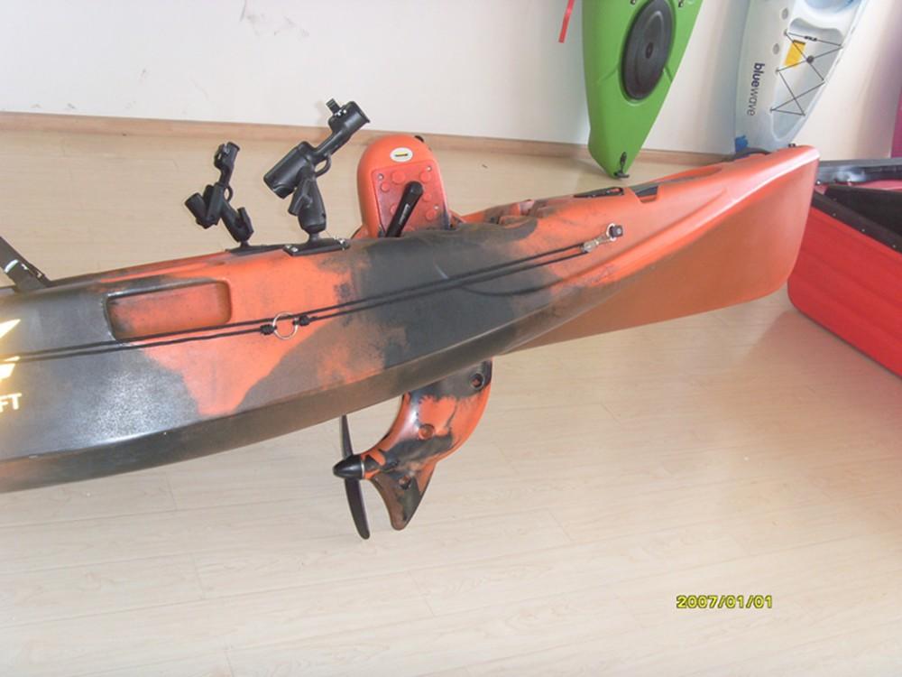 Professional pedal drive kayak fishing kayak very fast for Pedal drive fishing kayak