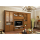 High quality solid teak desk living room wall showcase furniture set wooden tv cabinet