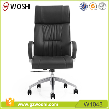 Classic Leather Office Chair Black Leather Boss Chair Leather Captains Chair