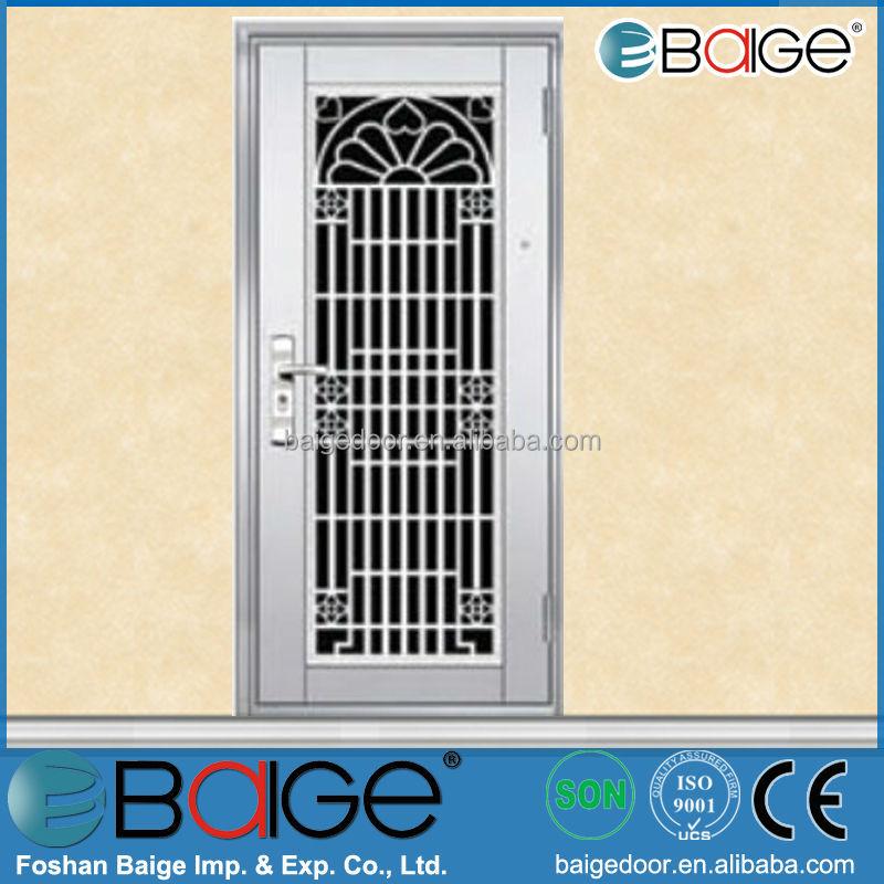 Stainless door stainless steel grill door design for Steel door design