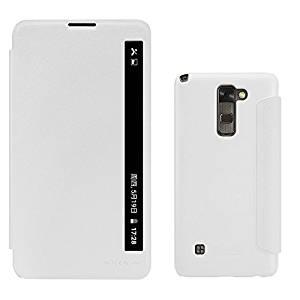 LG Stylus 2 Case, G Stylo 2 Case, Starhemei High-quality Ultra-Thin PC Back Cover Flip PU Leather Phone Case Cover For LG G Stylo 2 2016 (Leather-White)