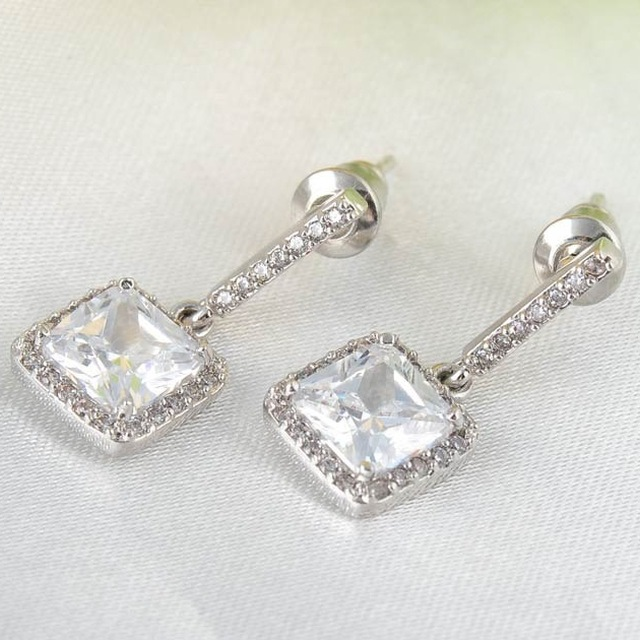 China crystal stone chandelier earrings wholesale alibaba crystal rhinestone women jewelry square shape diamond main stone victorian style chandelier earrings aloadofball Images