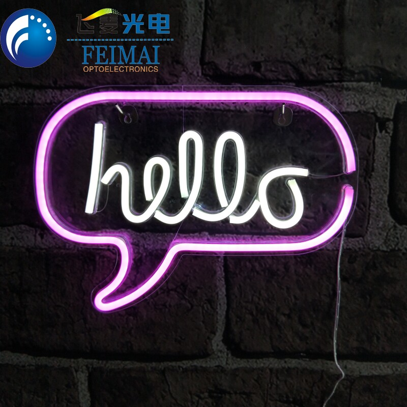 Neon Sign Making Supplier Custom Plastic Neon Sign With HIPS Base Board