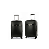 Export Products New Combination Lock Black PU Leather Men Trolley Luggage Sets