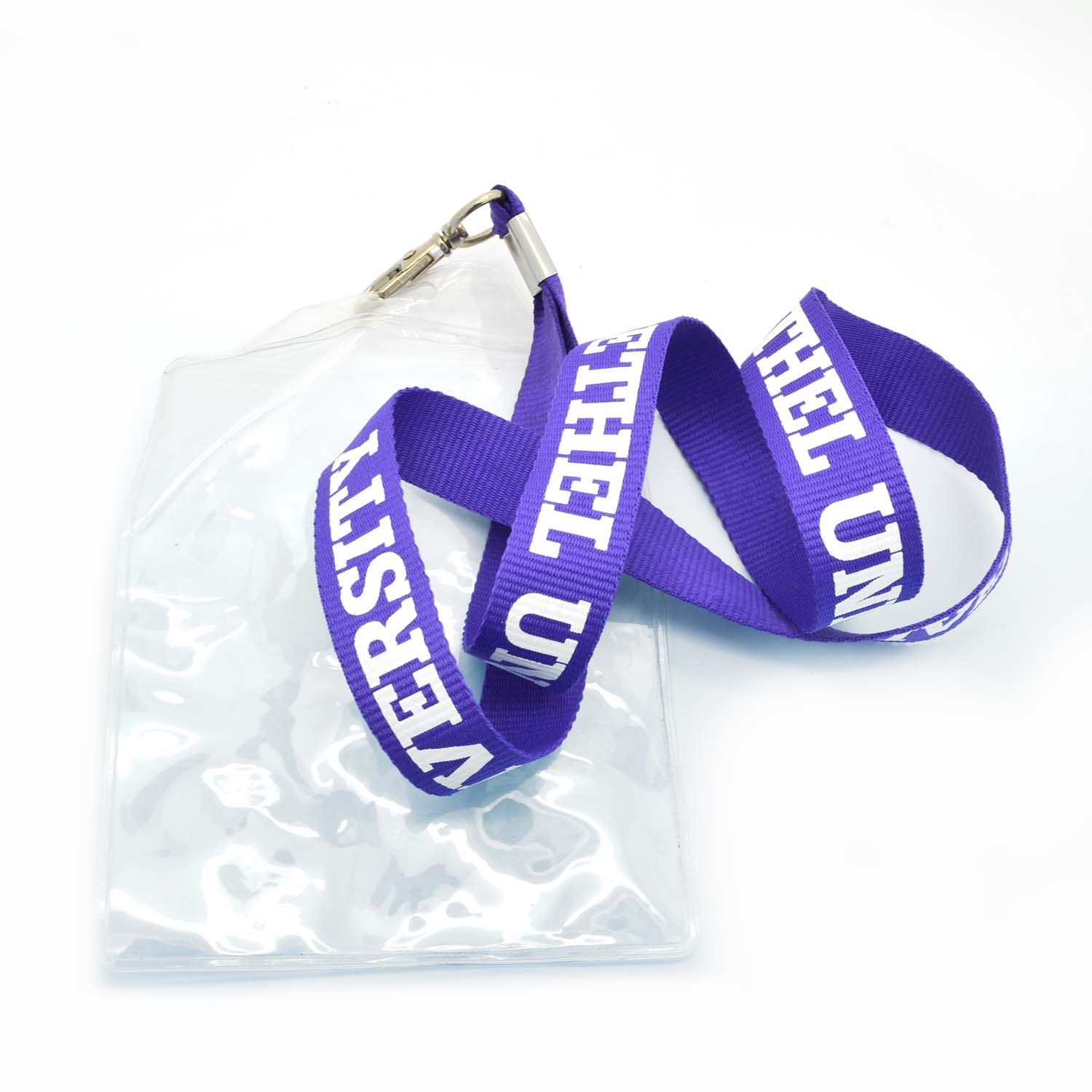 Wholesale plastic soft PVC retractable custom id badge holder with lanyard