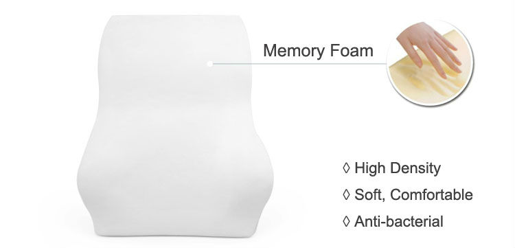 Ergonomic Car Office Memory Foam Lower Back Pain Relief Lumbar Back Support Waist Cushion Pillow
