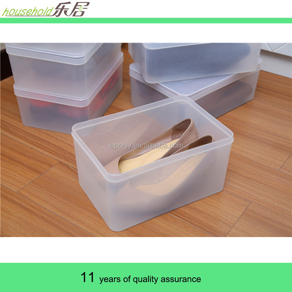 De Pl Stico Transparente Clear Impermeable Zapatos Caja De  ~ Cajas Transparentes Para Zapatos