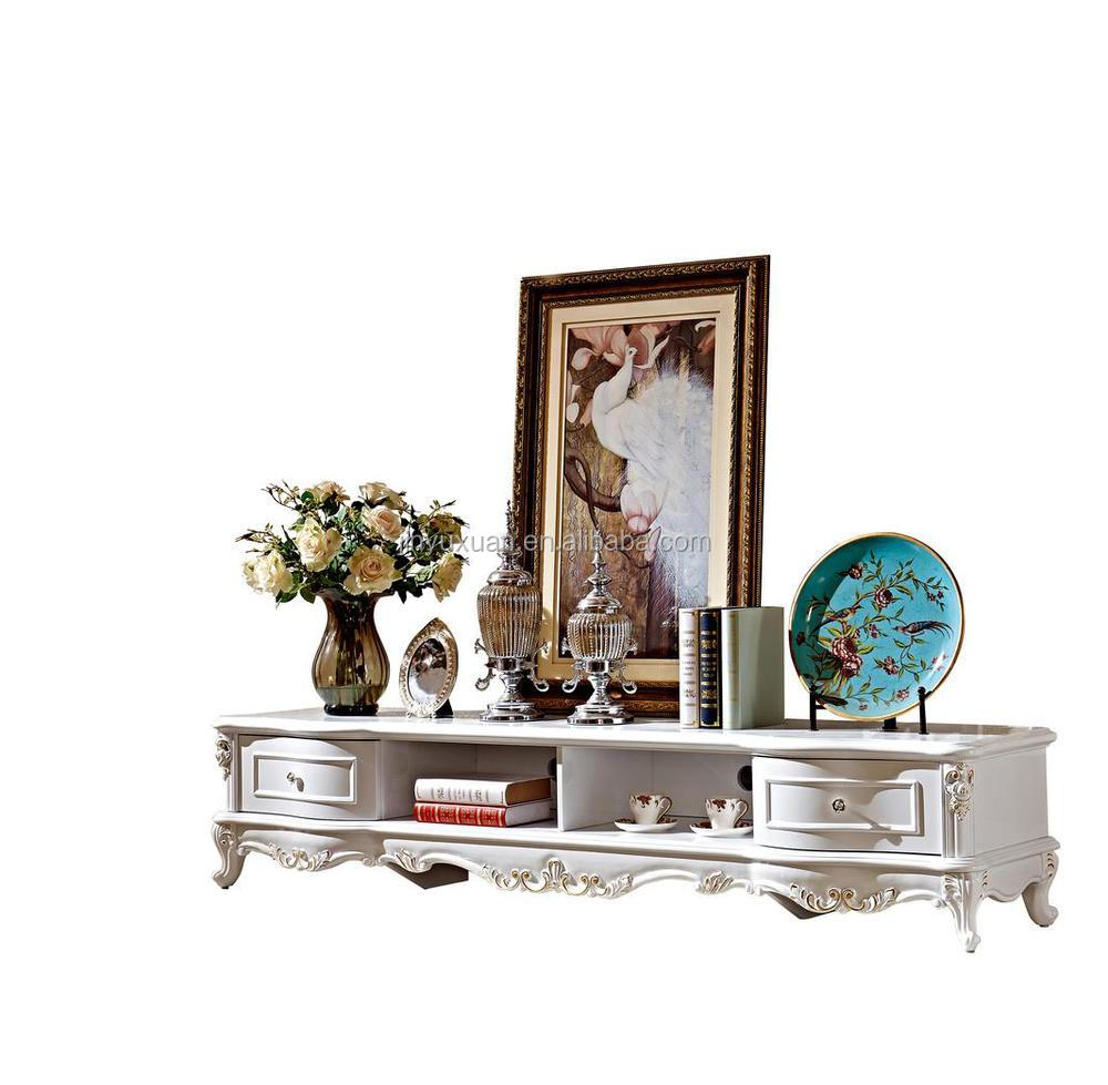 Meubles De Maison N O Classique Europ Enne Classique Blanc  # Meuble Tv Classique Blanc