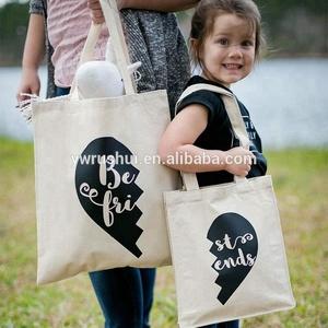 Natural color canvas shoulder bag cotton bag with handle tote bag cotton canvas shopping with custom silkscreen printing logo