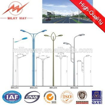 polygonal 9 meters solar street light pole supplier