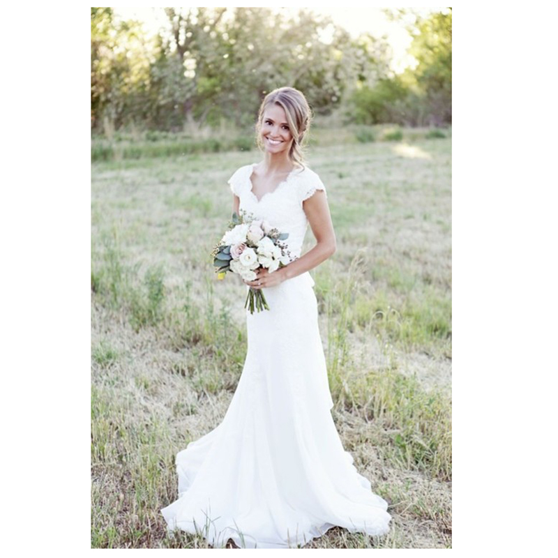 Vestido De Novia Lace Wedding Dress Vintage Country Style