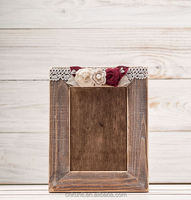 Picture Frame Wooden Photo Frame Rustic Wedding Distressed Memory Table Frames Cigar Open Bar Guest Book Sign Gift