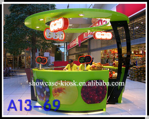 Lovely Flower Shape frozen yogurt retail kiosk, yogurt bar design, yogurtland franchise with led lights