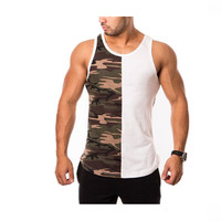 Custom breathable cotton mens sports gym tank top undershirt wholesale