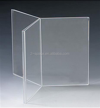 Multi Panel Acrylic Sign Holders Six Sided Acrylic Table Tent X - Six sided table