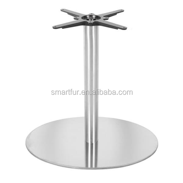 Restaurant Furniture Big Metal Dining Table Round Stainless Steel - Restaurant table legs for sale