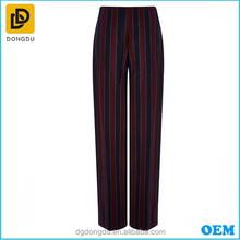 2016 Lady Casual Burgundy Striped <span class=keywords><strong>Len</strong></span> Flannel Quần
