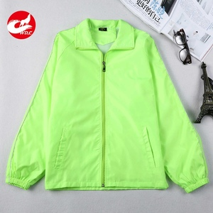 100% polyester camping long sleeve windbreaker