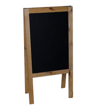 40''*20'' magnetic porcelain steel A-Frame Chalkboard - Beautiful Pine frame