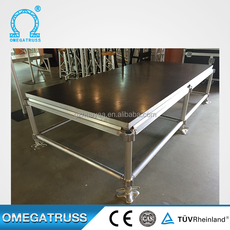 Reinforcement Aluminum 18mm thickness mobile folding stage