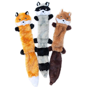 Skinny No Stuffing dog squeaky plush toys interactive dog toys bite resistant for pet