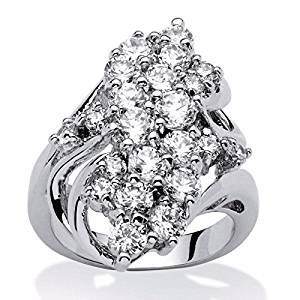 Hot 925 Silver White Topaz Ring Women/Men's Wedding Party Gifts Jewelry Sz 6-10 (9)