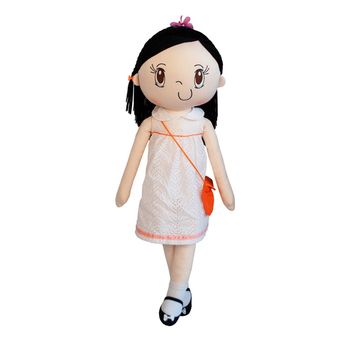 Beautiful standing life size plush doll with skirt