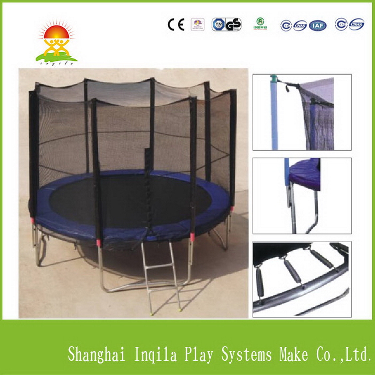 outdoor trampoline for sale 14ft 12ft 10ft 8 Ft Round Trampoline Combo with Safety Enclosure and Pole & Ladder & Jumping Mat