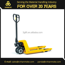 China supplier 3000kg short fork hydraulic hand pallet truck with rubber wheel