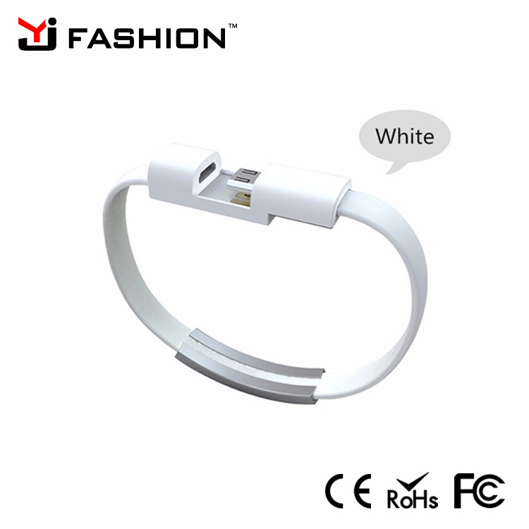 Customized silicone wristband usb cable bracelet usb data cable