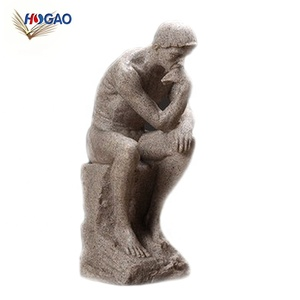 Nordic sandstone thinker creative home decor hot sale products designer people head custom resin statue