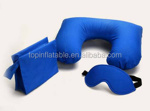 Travelling U shape inflatable neck pillow airplane pillow camping