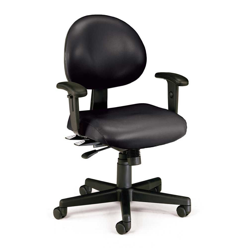 "241 Series Vinyl 24-Hour Ergonomic Chair Dimensions: 27""W x 29.5""D x 37-40.5""H Seat Dimensions: 19.5""Wx19""Dx19-22.5""H Weight: 49 lbs. Black Vinyl"