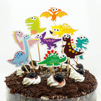 dinosaur party supplies Dinosaur Cupcake Toppers Picks Cake Toppers for Kids Birthday Baby Shower Party Decorations Supplies