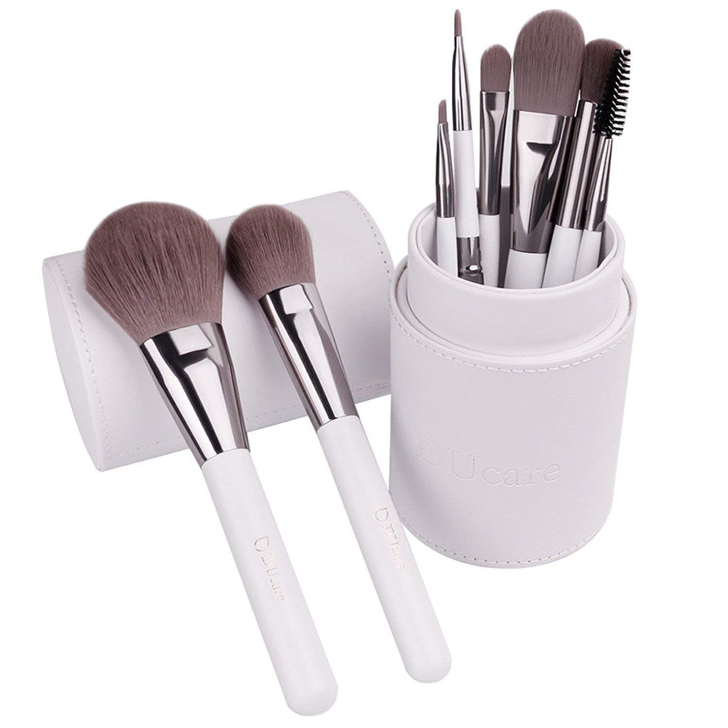 Makeup Brushes Professional Cosmetics Brush Set 8Pcs Top Synthetic Hair With White Cylinder Brushes Set