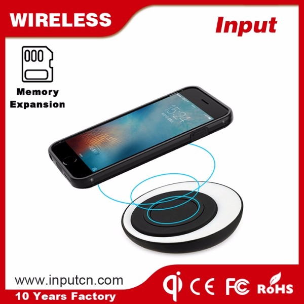 2017 Patent design OTG memory expansion wireless charging case for iPhone 6 6s