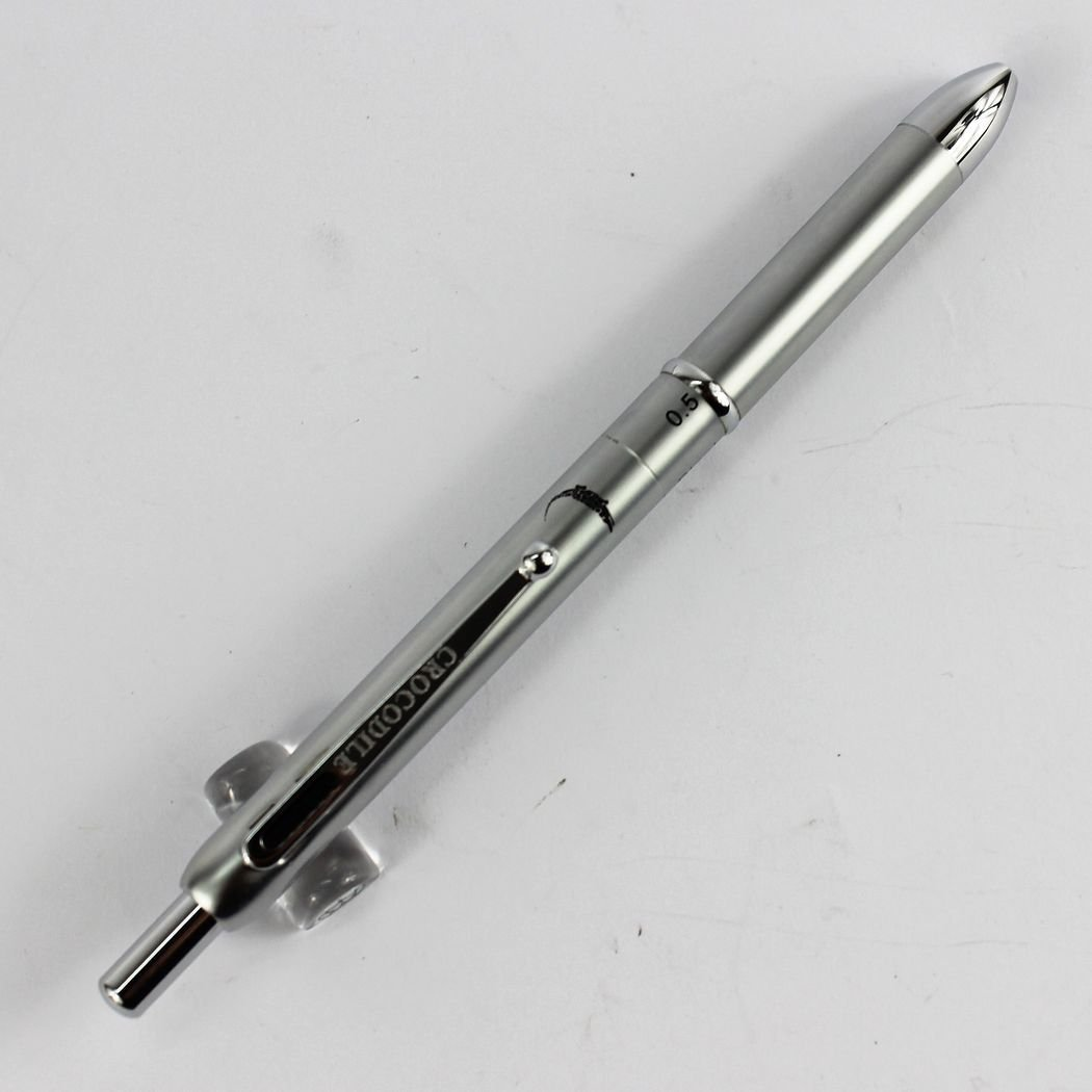 Wholesale new disign silver pen crocodile 400 multi-function pen 3 color ball pen and 0.5 pencil