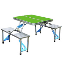 Plastic folding table and chair portable table