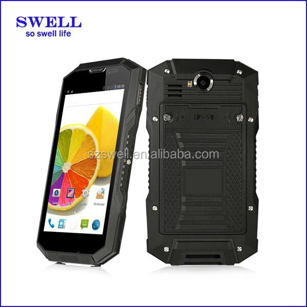waterproof dustproof mobile phone 5inch NFC port terminal with GPS bluetooth wifi dual sim WCDMA GSM V4