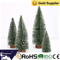 Manufacturer Sales Frosted Artificial Customized Size Mini Christmas Tree for Table Decoration