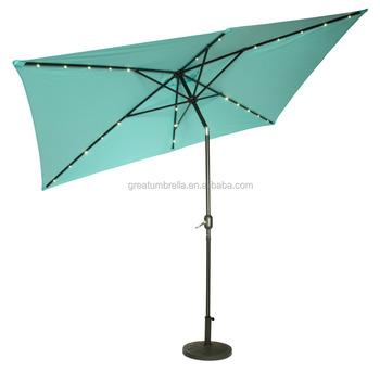 Aangepaste Multifunctionele Parasol Led-verlichting Solar Paraplu ...