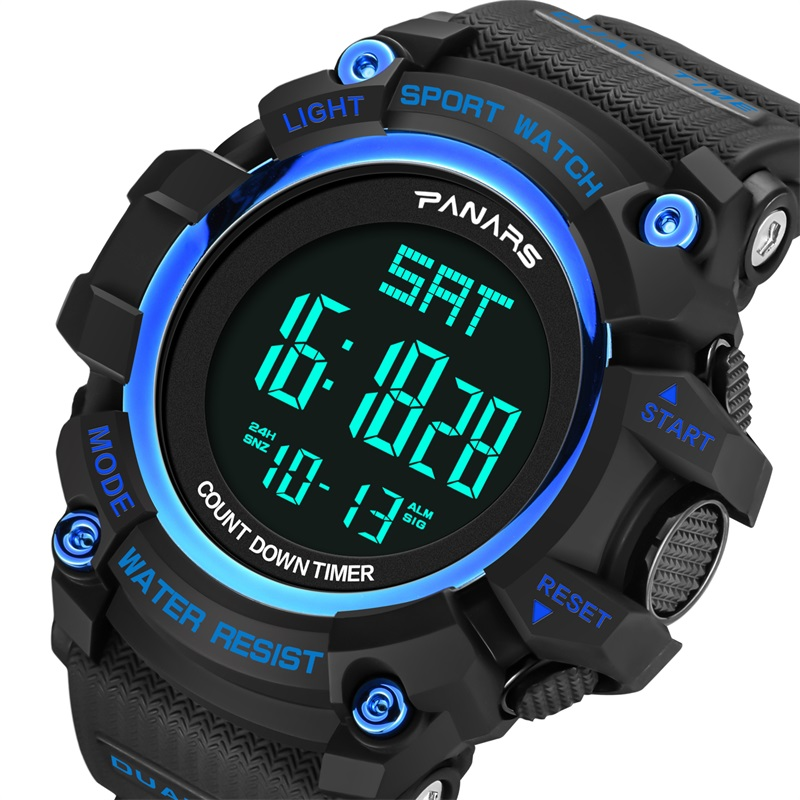 Men's Watches Panars Mens Sport Digital Watch Hombre Reloj Swimming Movement Compass Waterproof Watch Men Relogio Masculino Led Wristwatch Factories And Mines Watches