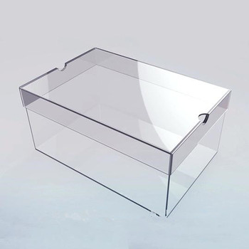 18 Years Of Experience Clear Acrylic Shoe Storage Box
