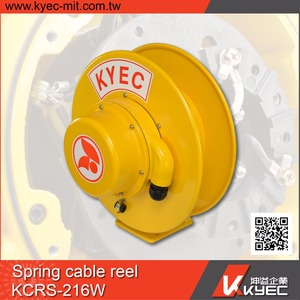 Taiwan KYEC electric spring cable loaded reel/auto retractable cable reel drum
