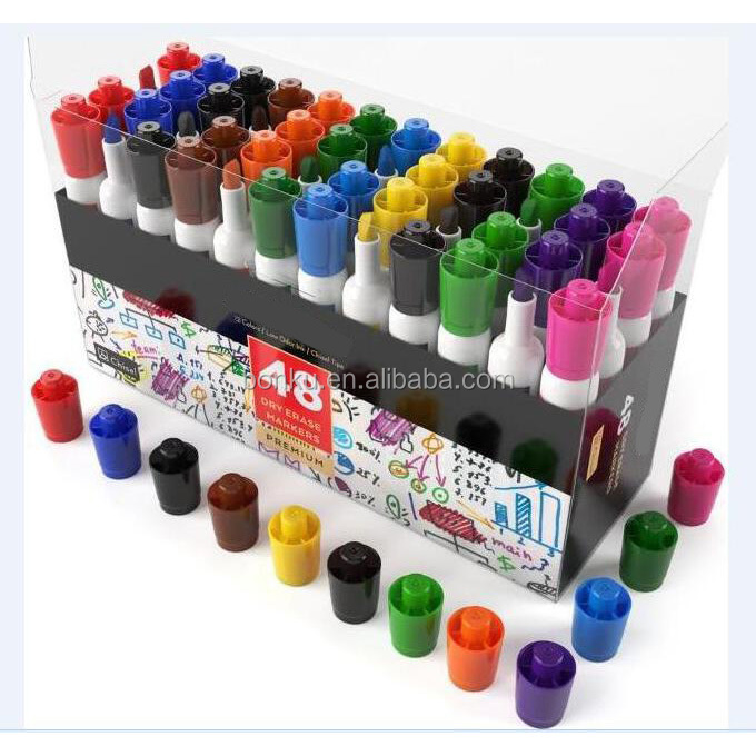12 colors Brighter Inks better Refillable Marker Write whiteboard marker pen