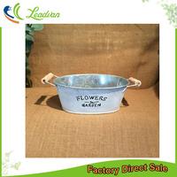 wholesale stackable new design unique oval shape wood handles garden decorative indoor plant pots for sale
