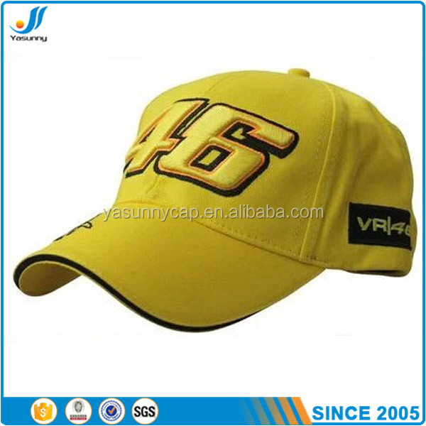 High quality custom cotton sport caps for race car cap