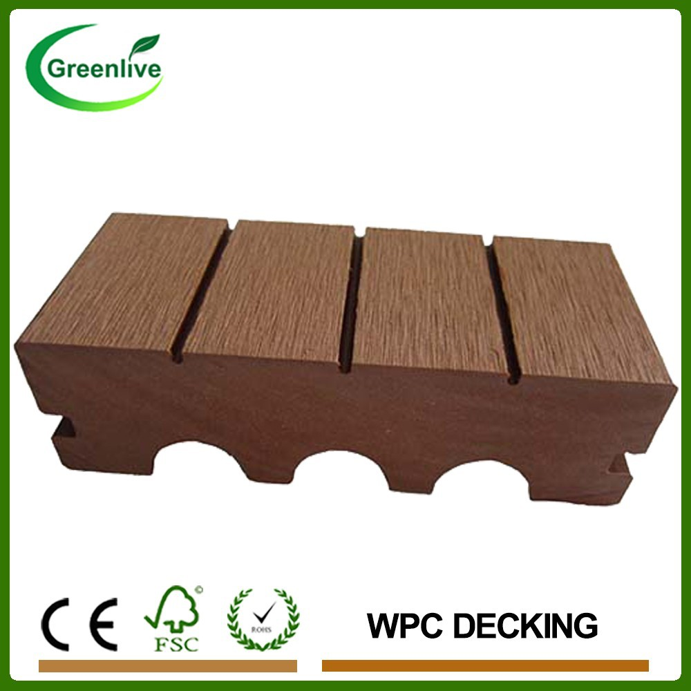 Solid Grooves WPC Decking Composite Boards