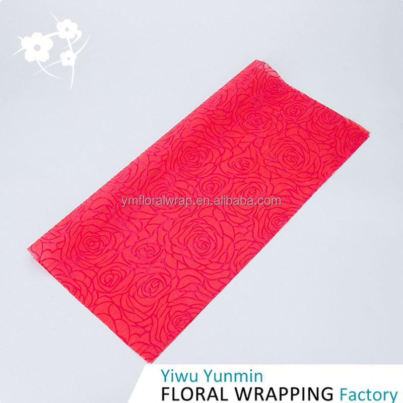 New Arrival unique design PP Non-woven Foaming Rose types of gift wrapping paper