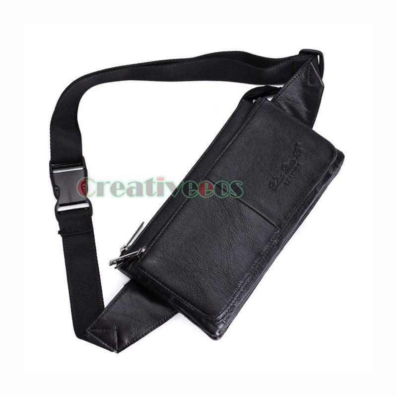 98c3950e485 Buy Men Genuine Leather Vintage Travel Hiking Motorcylce Messenger Shoulder  Sling Chest Hip Bum Belt Fanny Pack Waist Bag Pouch in Cheap Price on  m.alibaba. ...